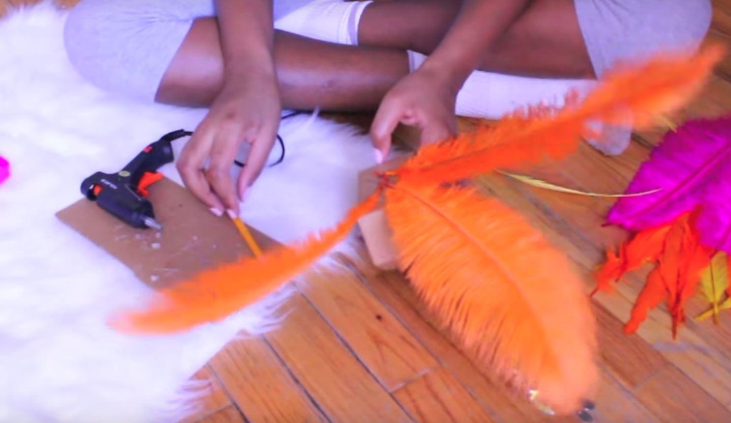 arm piece feathers